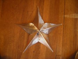 Recycled Can 5 Point Star by aldosart
