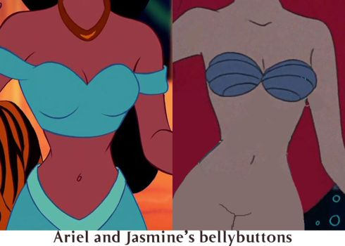 Ariel and Jasmines bellybuttons by conthauberger