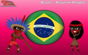 Chibi Assurini People, Brazil - Animondos - by Dougieus