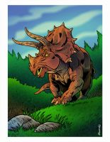 DINOSAHHHH: TRICERATOPS by Zuccarello