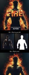 Fire Photoshop Action by newdesigns