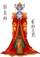 Azshara for Lunar Festival by ammatice