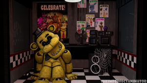 Golden Freddy in the Office by TheImperfectAnimator