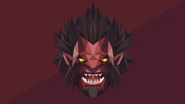 Axe Dota 2 Low Poly Art by giftmones