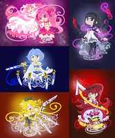 MagicalMagicMadoka and Friends by Hyperspectrum