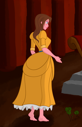 Jane Porter in the throne room (PREVIEW) by Venik-art