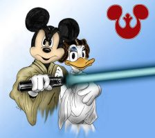 Luke Mousewalker and Princess Daisy by dragonheart