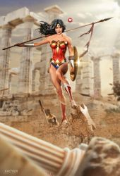 Gal Gadot as Wonder Woman by kaethor