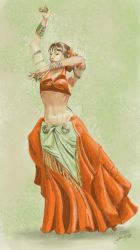 Bellydancer Color Comp by wynnart