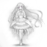 Commmission sample- monochrome white ^^ by ximbixill