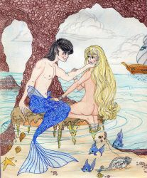 A Merman And A Princess by E-Ocasio
