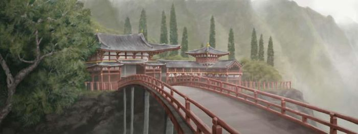 Bridge to the Temple by danjohnpaintr