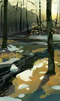 Forest stream by LKivihall