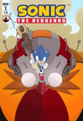 Sonic Issue 1 IDW Cover by cheshirecatart