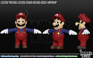 Cartoon Mario by realinvaderdesign