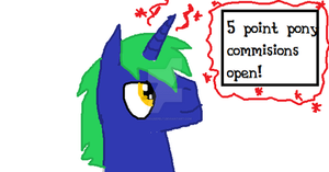 5 point pony commisons open! by Its-Mousepelt