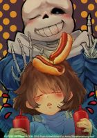 Undertale - Hot Dogs? by AirinNoSekai