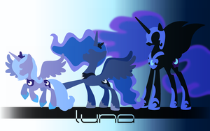 Three Phases of the Moon -Wallpaper- by eklipse13