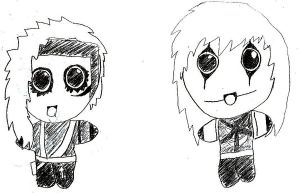 Jinxx and Andy Biersack Chibi by EVFanKayda1020