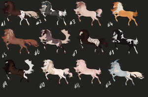 HORSE ADOPTABLES [OPEN 3/12] REDUCED !! by arcanums
