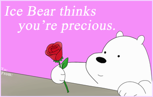 Ice Bear Thinks You're Precious by Sparkoo