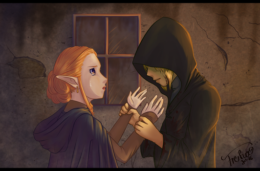 He didn't say anything... - ZeLink by Freiha