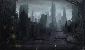 Ruined city by Mihawq