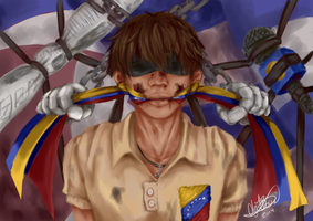 REPRESSION AT VENEZUELA. by Pan-koo