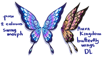 [MMD] Aura Kingdom butterfly wings DL by witchfrogh
