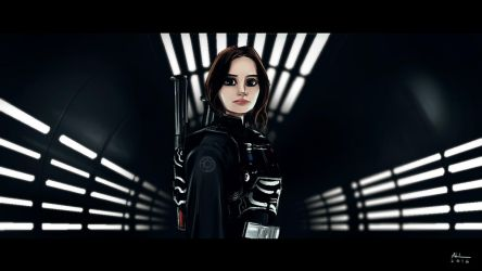 Jyn Erso - Rogue One by AndrewKwan