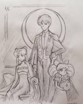 Celestial Royal Family, Sketch by DNLINK