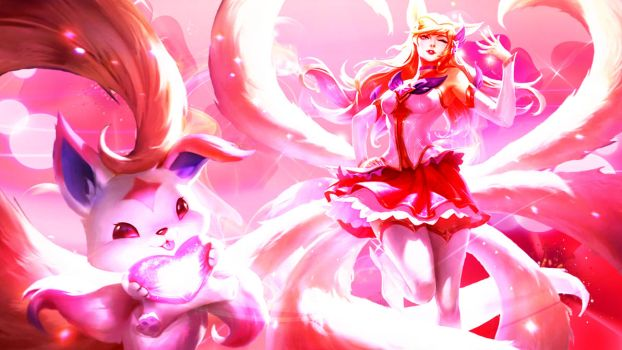 Star Guardian Ahri Wallpaper by nestroix