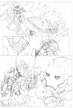 Iron Man Comic: Page 02 Pencil by shinlyver