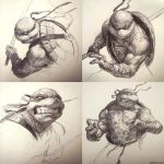 TMNT Sketch Collection! by DaveRapoza