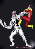 Antivenom VS SpiderWoman by Rene-L