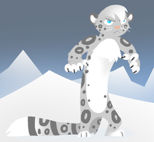 Skunk Fu: Snow leopardess by JuKii