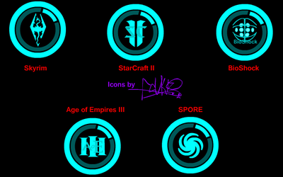Icon Pack: BluTek Games no.2 by CaKeS1