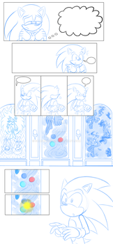 WIP Comic Page 2: Xela meets Sonic by Shadow4one