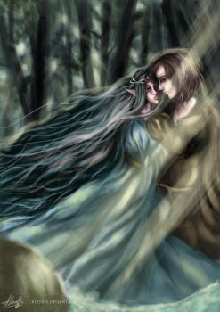 Beren and Luthien by crysticx