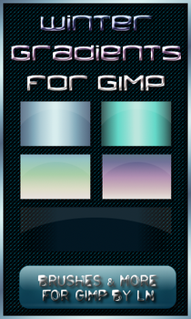 5 Winter Gradients for GIMP by el-L-eN