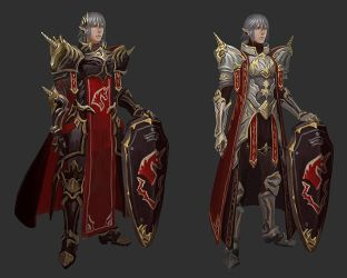 Haurchefant Unicorn armour design sketches by Athena-Erocith