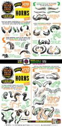 How to draw HORNS tutorial by STUDIOBLINKTWICE
