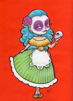 Day of the Dead Housewife by seystudios