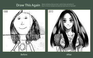 Draw This Again Challenge - 1998 and 2013 by Breetroad