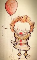 Chibi Burton: Pennywise from IT by Loza-LaSphinx