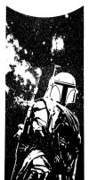 Boba fett planetfall by artist Tom Kelly by TomKellyART