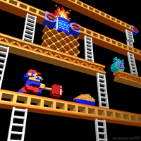 Inside Donkey Kong stage 2 by m7