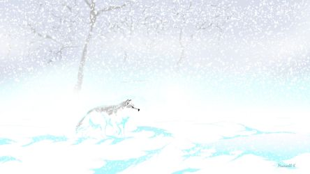Wolf In The Snow by MaximusKPrime