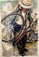 The Bicycle Man by zoshalucyna