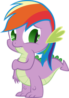 Spike is Rainbow Dash by KalleFlaxx
